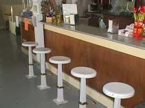 Right side of stools
